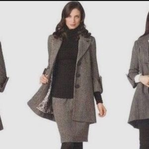 Skirt brown tweed pencil, coat avail., Shakespeare